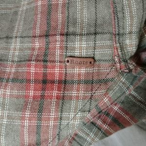 Roots Tops - Roots Cozy Plaid Flannel Button Front Shirt
